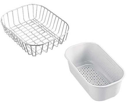 Franke Vector Sink : OP-39048 - White Plastic Big And Small Strainer Baskets - Pack CA ...