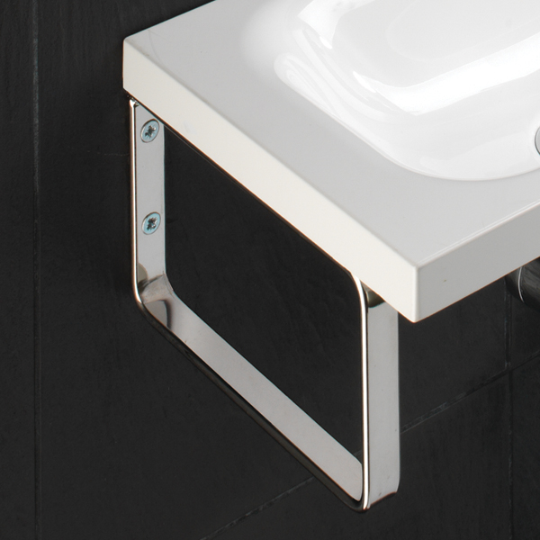 Hib Solo Delta Wall Hung Washbasin 400 X 220mm 8860