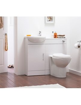 Nuie Premier Sienna Cloakroom Gloss White Fitted Bathroom Furniture Pack SIE001