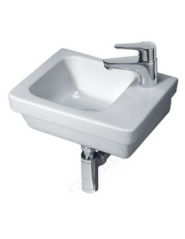 Essential IVY 360mm Slimline Wall Mounted Basin With 1 RH Tap Hole EC7009
