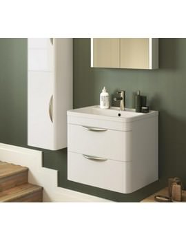 Nuie Premier Parade 2 Drawer Wall Hung Cabinet And Basin