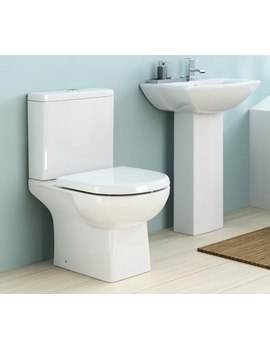 Nuie Premier Asselby 670mm Close Coupled WC Pan And Cistern CSS004