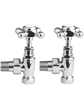 Hudson Reed Radiator Pair Of Angled Cross Top Valve - HT300