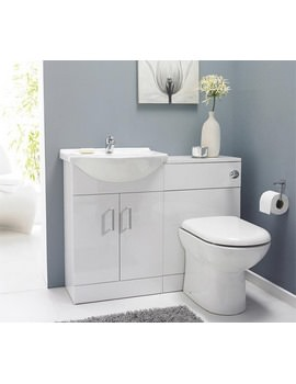 Nuie Premier Saturn Cloakroom Furniture Pack With Round Basin SAT001