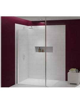 Merlyn 8 Series Showerwall With Vertical Post - M8SW201H