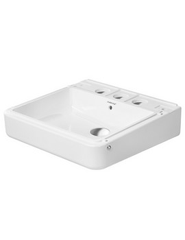 Duravit DuraStyle 450 x 335mm 3 Taphole Washbasin With Overflow - Ex-Display
