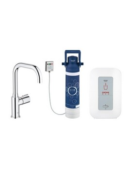 Grohe Red Chrome Mono Pillar Tap With 4 Litre Single-Boiler - 30155000