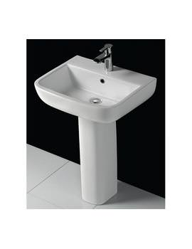 RAK Series 600 1 Tap Hole Basin 520mm With Pedestal