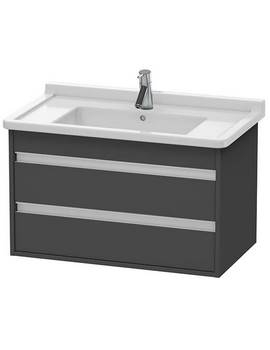 Duravit Ketho 800 x 480mm Wall Mounted 2 Drawer Vanity Unit