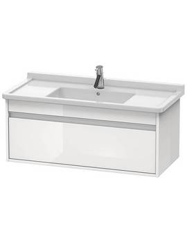 Duravit Ketho 1000 x 465mm Wall Mounted 1 Pull Out Compartment Vanity Unit
