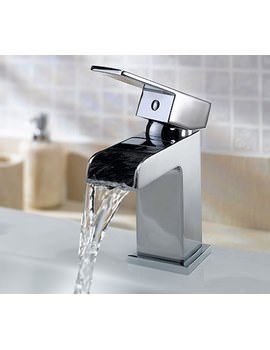 Tre Mercati Geysir Mono Basin Waterfall Mixer Tap With Click Clack Waste - 1807