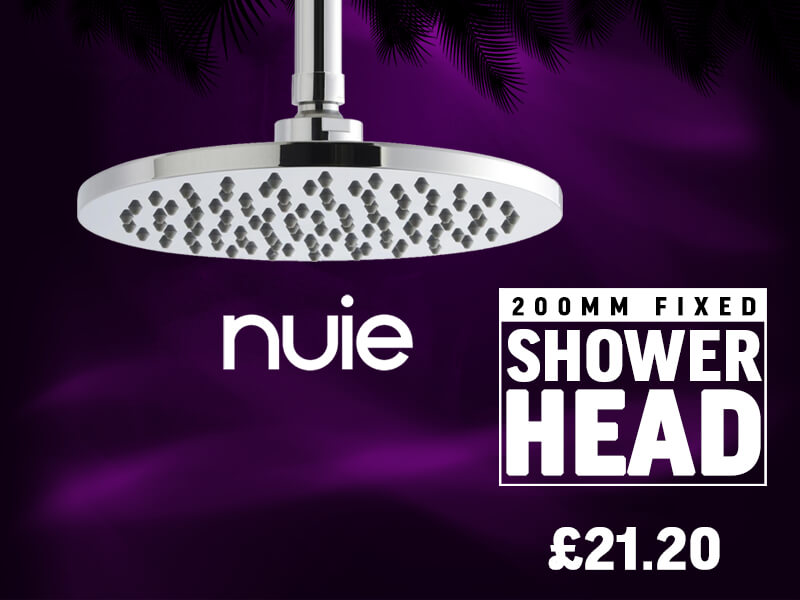 Nuie Premier 200mm Fixed Shower Head